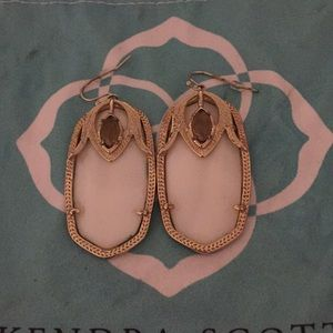Kendra Scott Earrings in White and Gold
